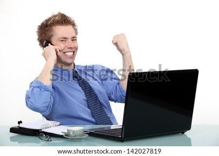 Achievement at work - stock photo