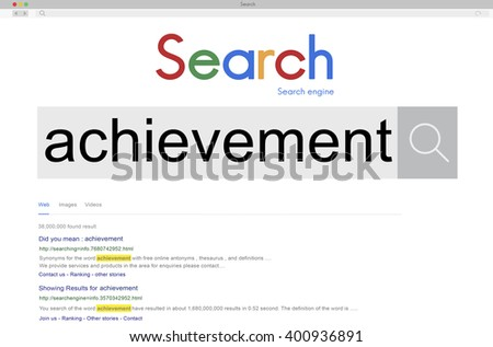 Achievement Attainment Success Victory Concept - stock photo