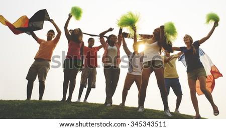 Achievement Hanging out Dancing Friendship Concept - stock photo