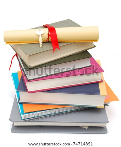 Achievement on earning degree concept - stock photo