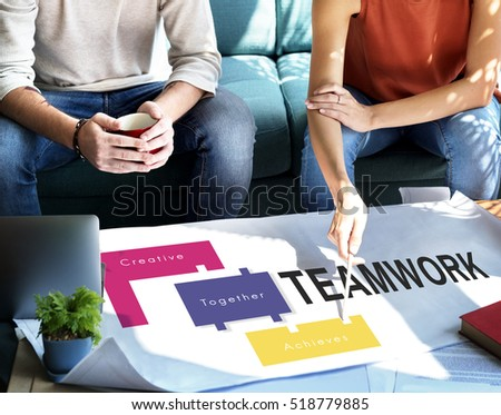 Achievement Teamwork Creative Together Collaboration Graphic Concept