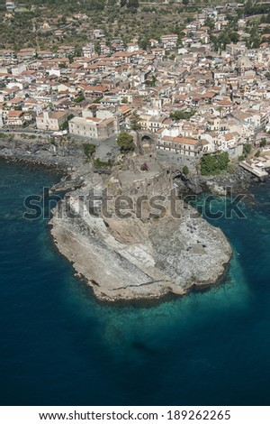 Acicastello castle from above,Sicily, Italy,Europe  - stock photo