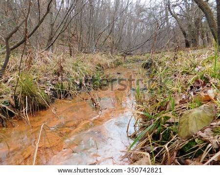 Acid Mine Drainage - stock photo