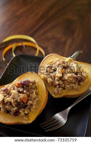 Acorn Squash Meal - stock photo