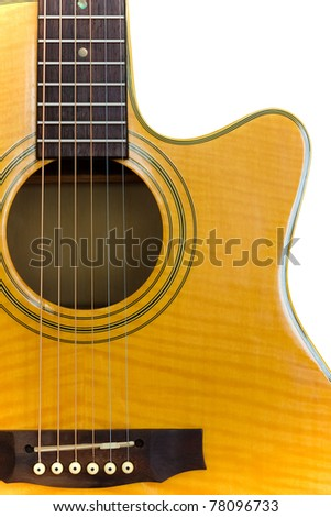 Acoustic Cutaway Guitar/Isolated - stock photo