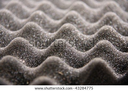 acoustic foam closeup - stock photo