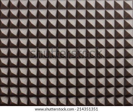 Acoustic Foam for Sound Recording and Mastering Studio Background, Texture, Pattern - stock photo