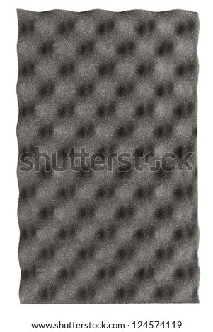 Acoustic foam panel isolated on white background - stock photo