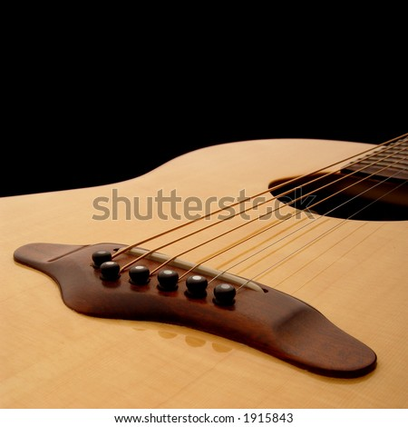 Acoustic Guitar Body - stock photo