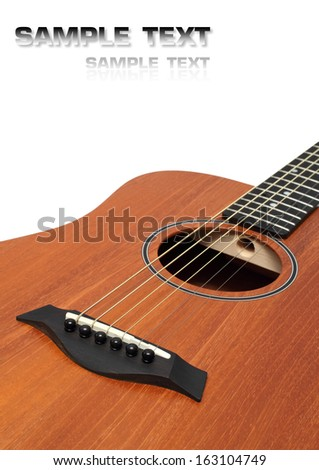 acoustic guitar body isolated - stock photo