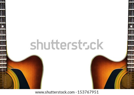 acoustic guitar frame with white space