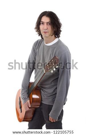Acoustic guitar guitarist man classical - stock photo
