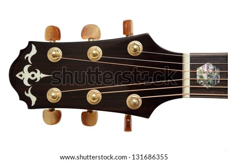 Acoustic Guitar Head - stock photo