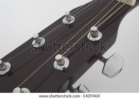 Acoustic guitar I - stock photo
