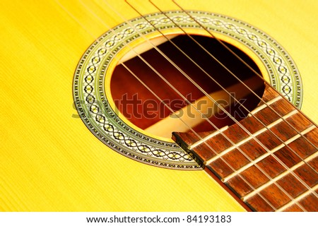 Acoustic Guitar Macro - stock photo