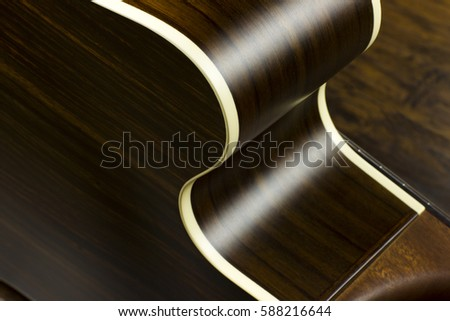 Acoustic Guitar Music Case Close Inlay Stock Photo Royalty Free