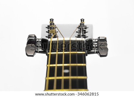 acoustic guitar Tuners - stock photo