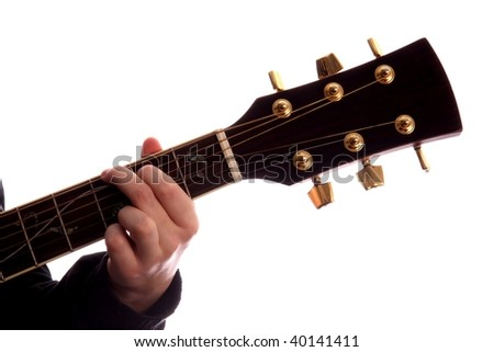Acoustic Guitar Persons Fingers Playing G Stock Photo (Royalty Free ...