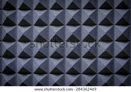 acoustic panels in the studio - stock photo