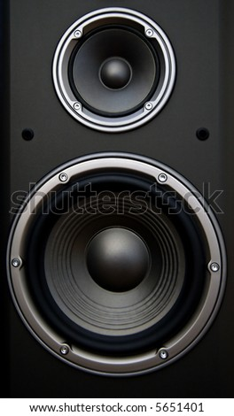 Acoustic system isolated - stock photo