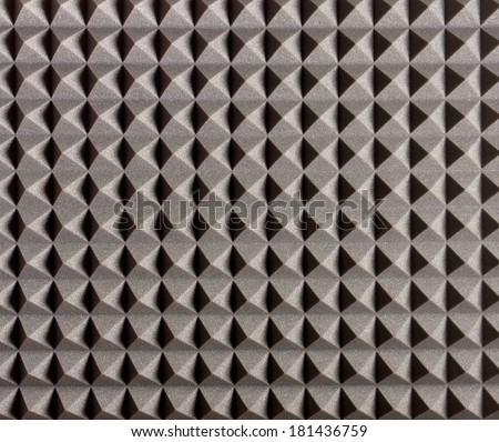 Acoustic Treatment for Recording Studio, Vocal Rooms - stock photo