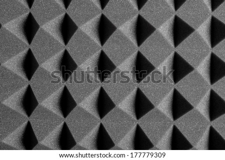 Acoustic Treatment made of Foam Rubber - stock photo