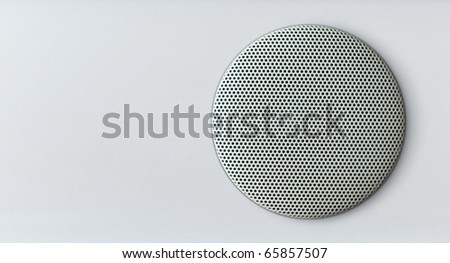acoustics speaker over white area - stock photo