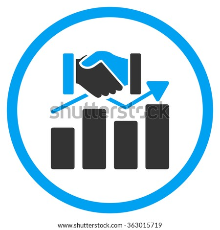 Acquisition Graph Icon - stock photo