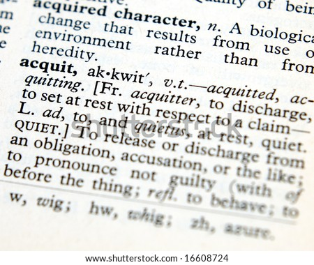 Acquit definition from old dictionary