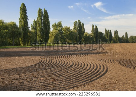 acre field cropping soil - stock photo