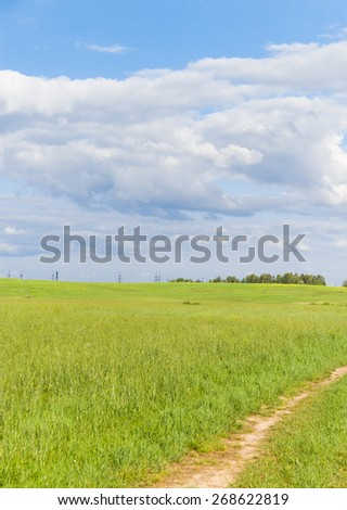 Acres Wild Road and Nobody  - stock photo