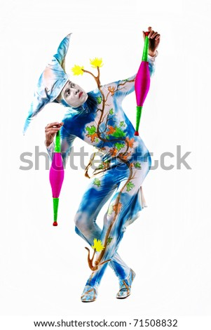 acrobat - stock photo