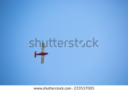 Acrobatics on aero rally - stock photo