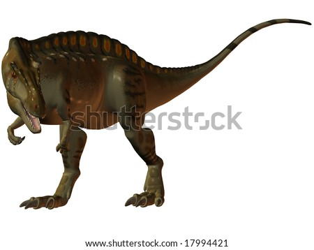 Acrocanthosaurus-3D Dinosaur - stock photo