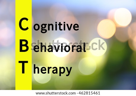 Acronym CBT as Cognitive behavioral therapy