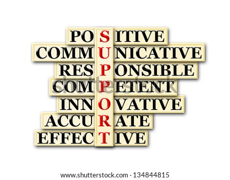 acronym concept of Support  and other releated words - stock photo