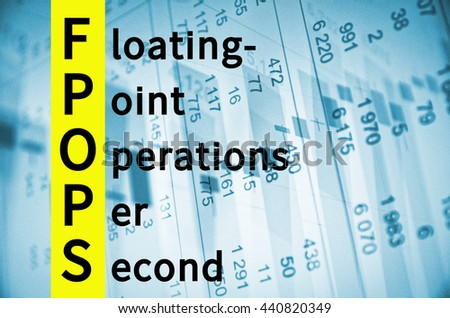 Acronym FPOPS as Floating-point operations per second