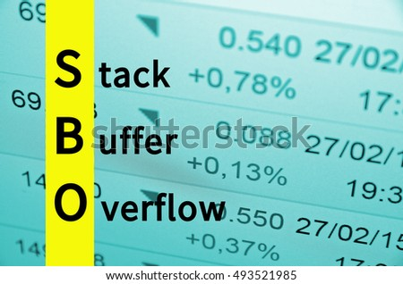 Acronym SBO as Stack buffer overflow