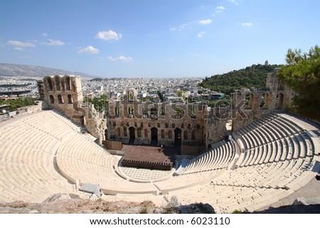 acropolis - stock photo
