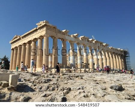 Acropolis Athens Greece Ancient Architecture White Marble