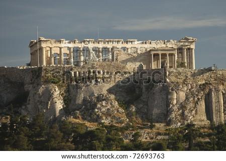 Acropolis in Athens Greece - stock photo