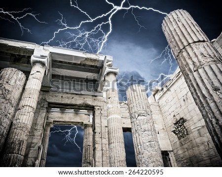Acropolis of Athens Greece - stock photo