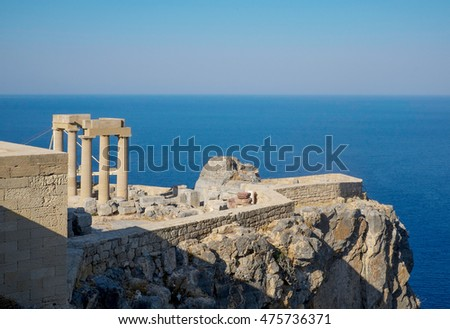 Acropolis of Lindos in Rhodes, Greece