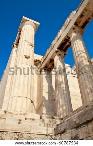 Acropolis temple details, Athens, Greece - stock photo