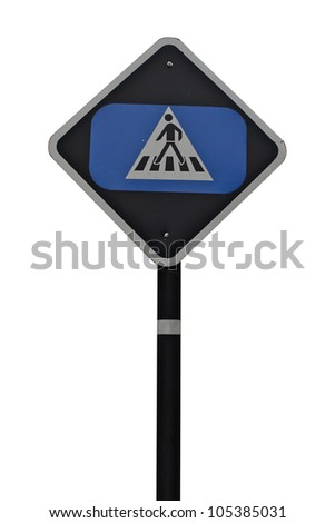 across sign in isolated white - stock photo