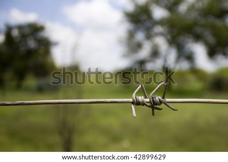 Across the wire - stock photo