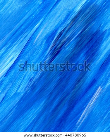Acrylic brush stroke background, texture. Grunge paper. Ocean water or sky, maritime theme backdrop for scrapbook elements with space for text. - stock photo