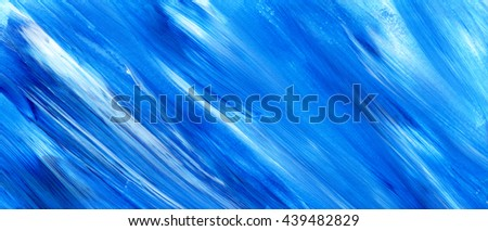 Acrylic brush stroke isolated on white background, texture. Grunge paper. Paint stain, paints blot. Ocean water or sky, maritime theme. Backdrop for scrapbook elements with space for text. - stock photo