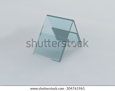 Acrylic card holder for events isolated transparent object - stock photo