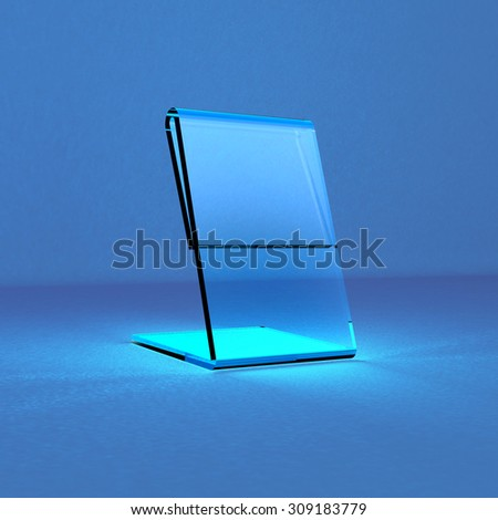 Acrylic card holder for events transparent object - stock photo
